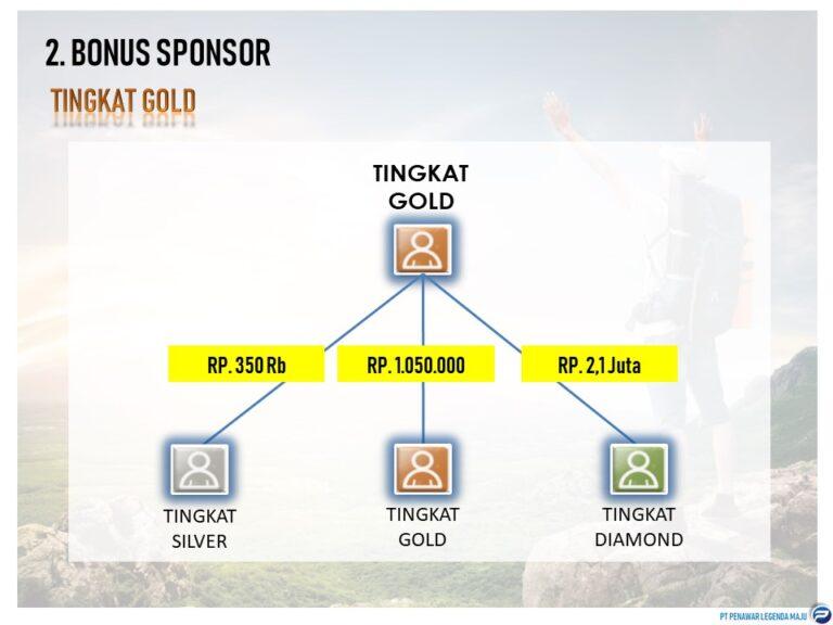 7. Bonus Sponsor untuk Gold